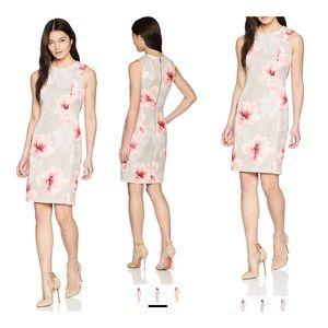 Calvin Klein Scuba Sleeveless Sheath Dress